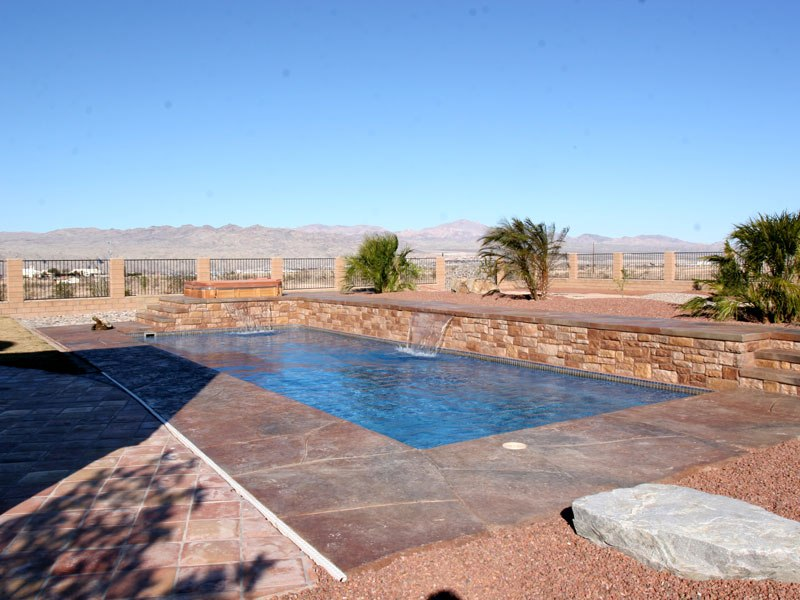 Rectangular Pool Designs With Spa rectangular pool designs with spa